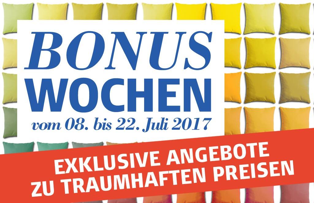 Bonuswochen im Bettenhaus Schmitt